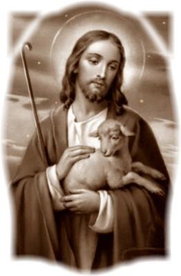 Good Shepherd holding a lamb