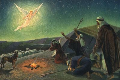 Angel-visits-shepherds-on-first-Christmas