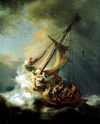 With jesus in the storm rembrandts meditation soul shepherding you probably know well the story of jesus and his disciples in their boat at sea during a raging storm mark 435 41 but you may not have ever meditated publicscrutiny Images