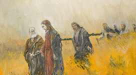 Jesus-and-disciples-in-field