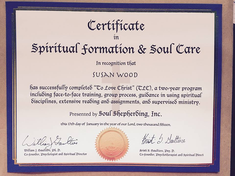 TLC Certification Assignments - Soul Shepherding