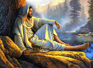 jesus resting